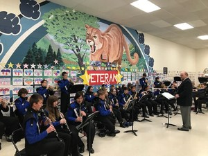 EHS band playing for Breakfast