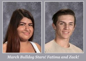 March Students of the Month: Fatima & Zack