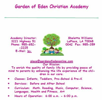 Garden of Eden Christian Academy