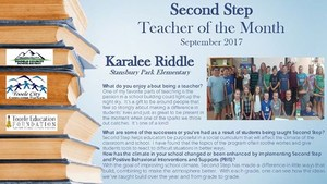 Second Step Teacher of the Month