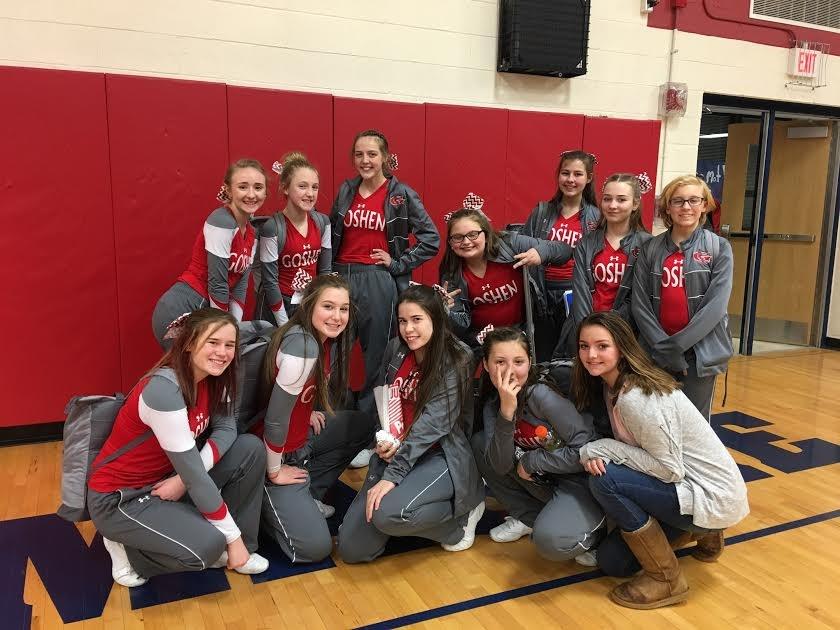 Cheerleaders at Clinton Massie