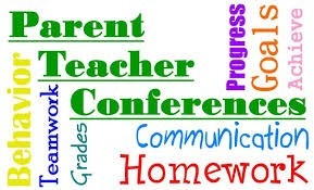 Parent Teacher Conferences; Behavior, Teamwork, Grades,Progress, Goals, Achieve, Communication, Homework