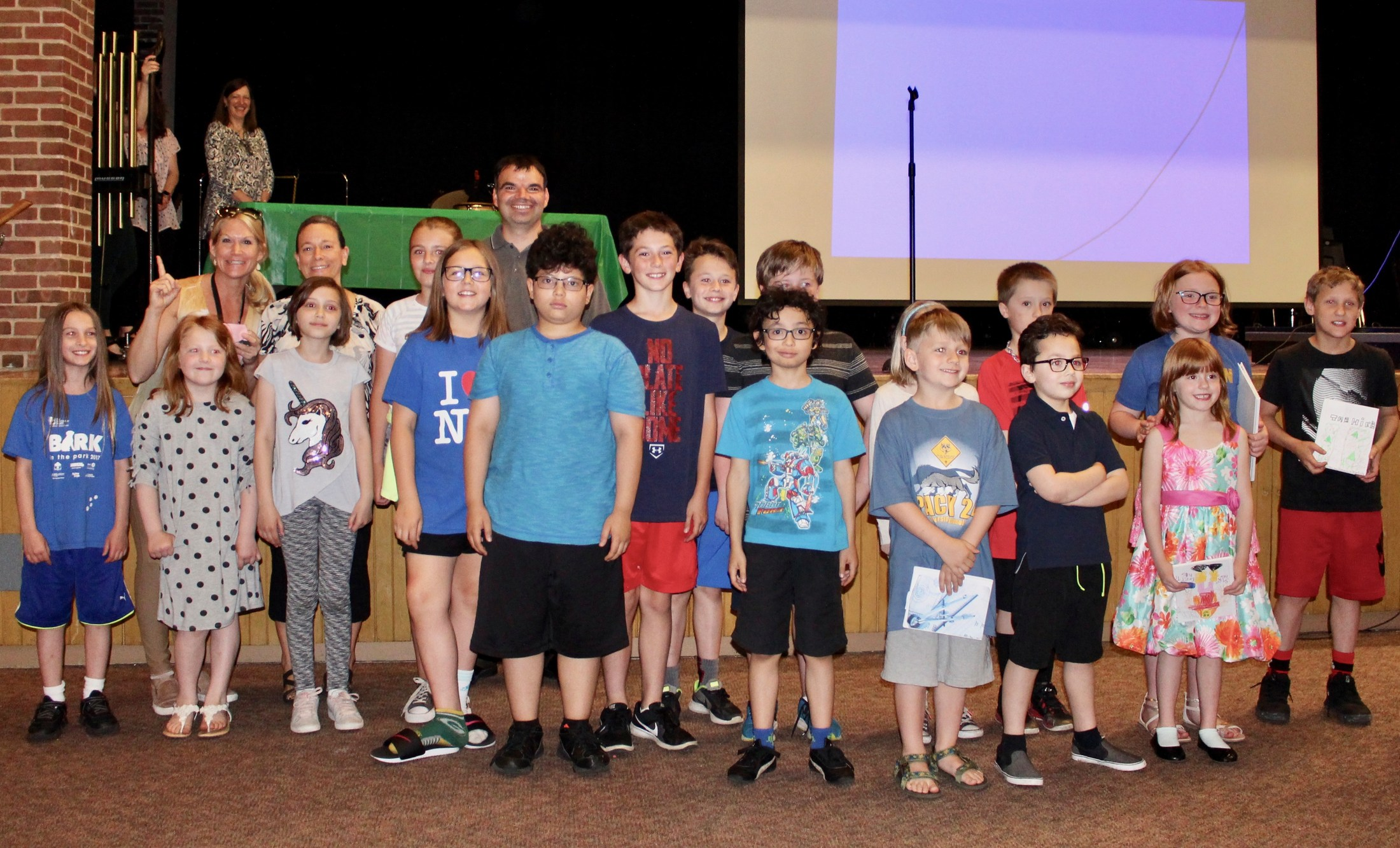 Young Authors participants and winners