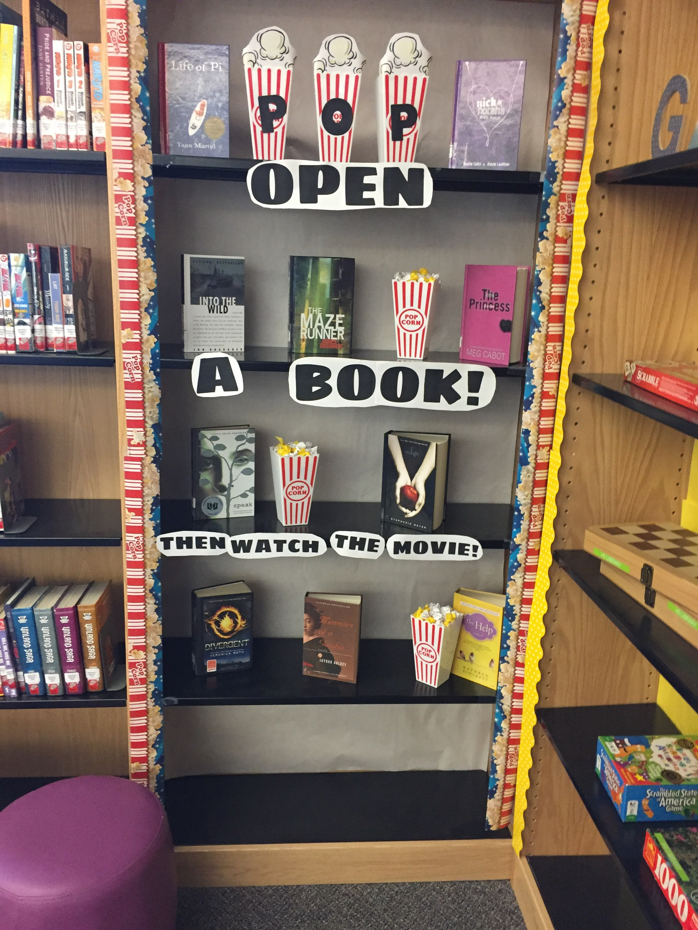 Pop Open a Book then Watch the Movie