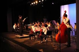 Students at a concert.