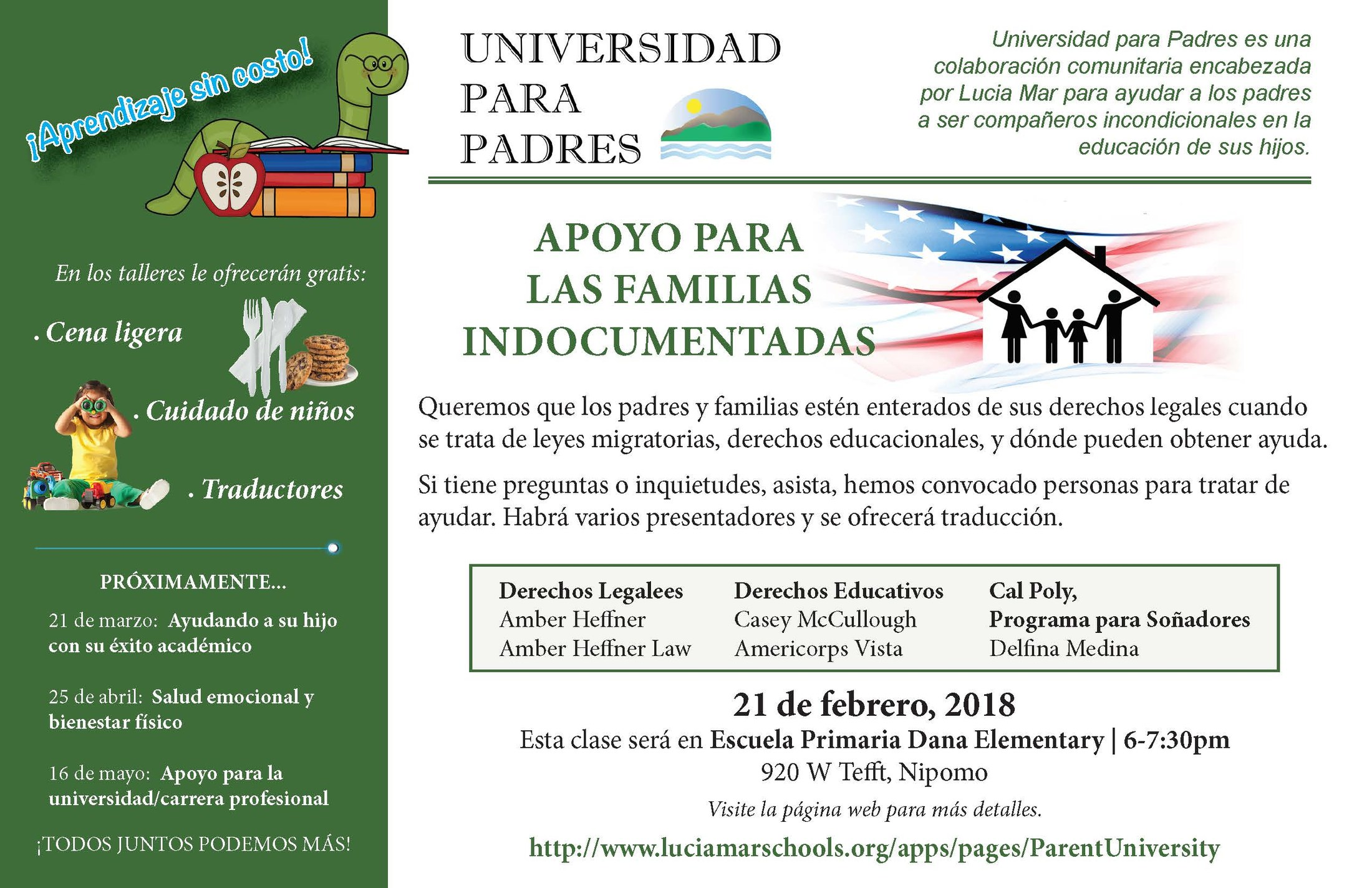 flyer for undocumented families