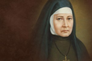A painting of Blessed Angela, foundress of the Felician Sisters.