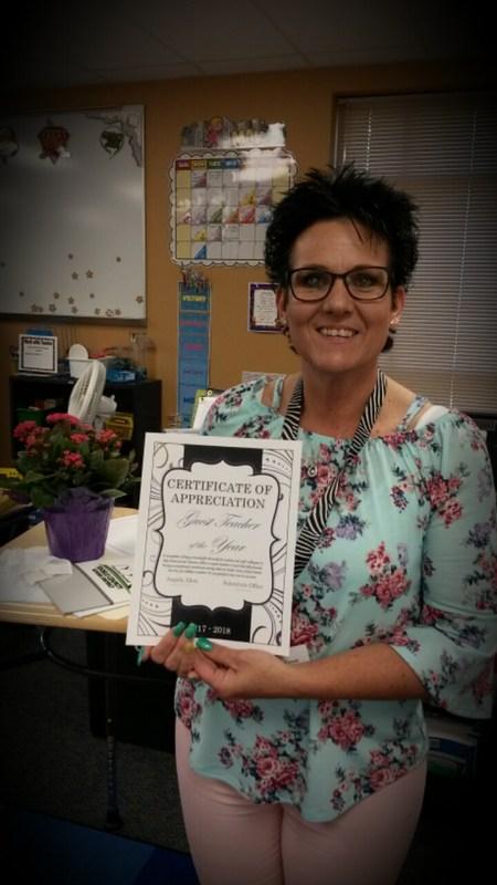 Guest Teacher of the Year Congratulations Angela Allen! Thumbnail Image