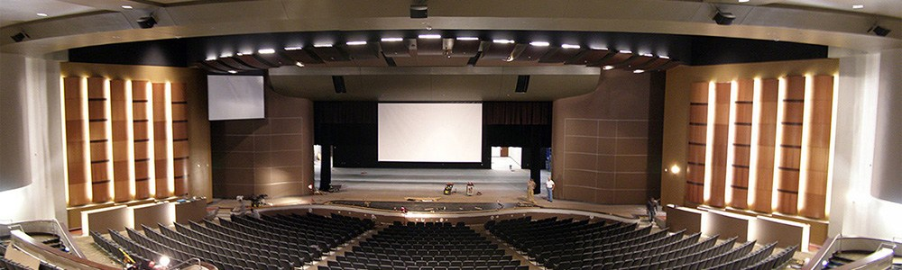 stage of the fine arts center