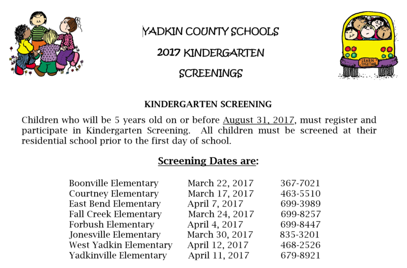 Kindergarten Screening Thumbnail Image