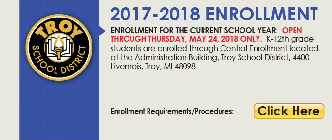 Current K-12 Student Enrollment Button with requirements. This link will open a PDF document.