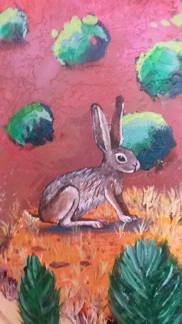 mural painting with a rabbit