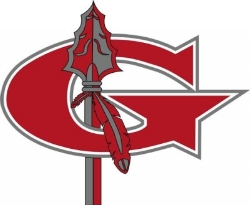 Image is of the Goshen Local Schools G with a Spear through the G.