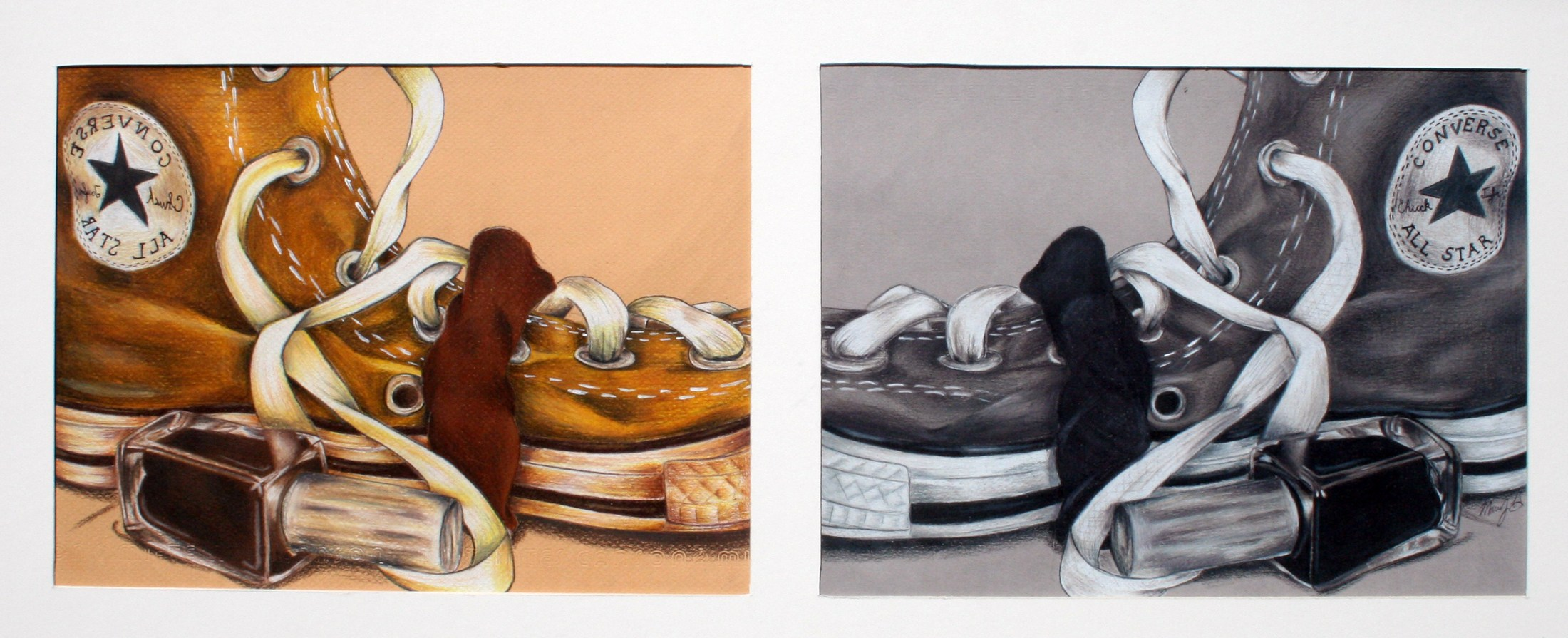 drawings of converse tennis shoes