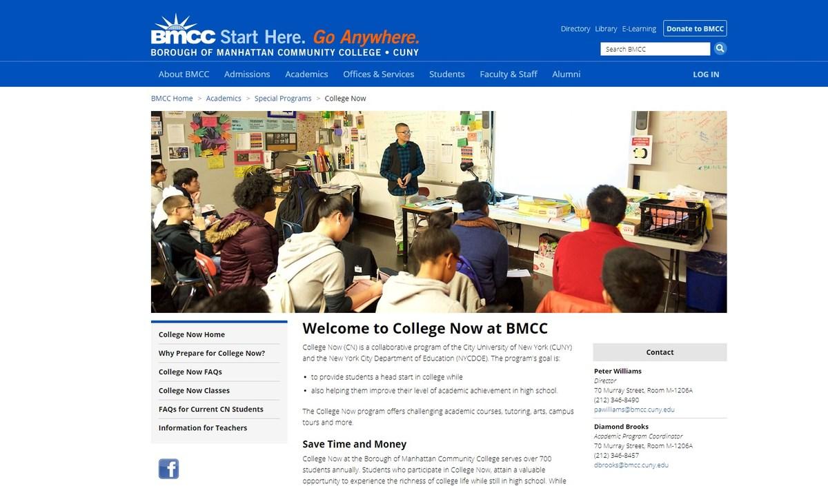 BMCC College Now