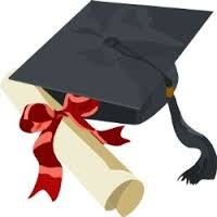 clip art of graduation certificate and cap