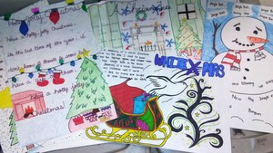 example of student posters donated to senior centers