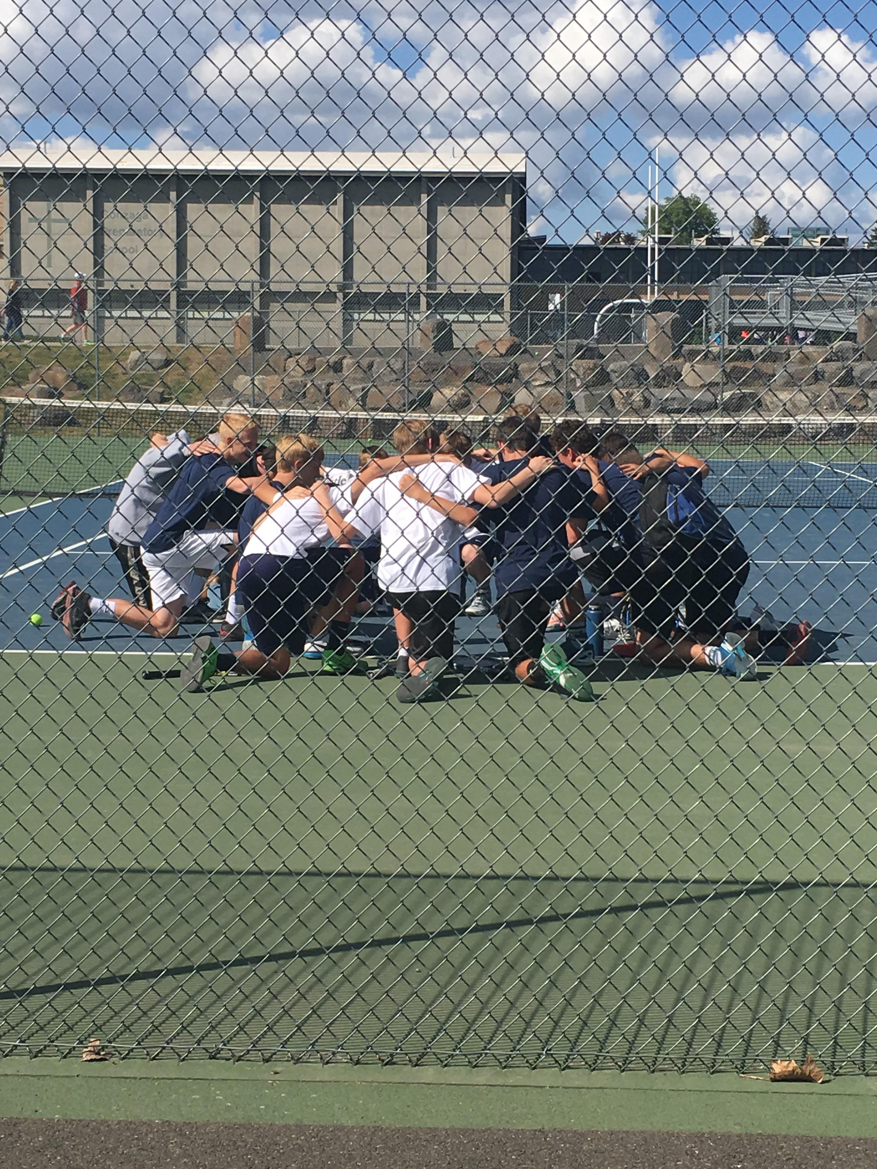 Boys Tennis - Pre-Game Prayer