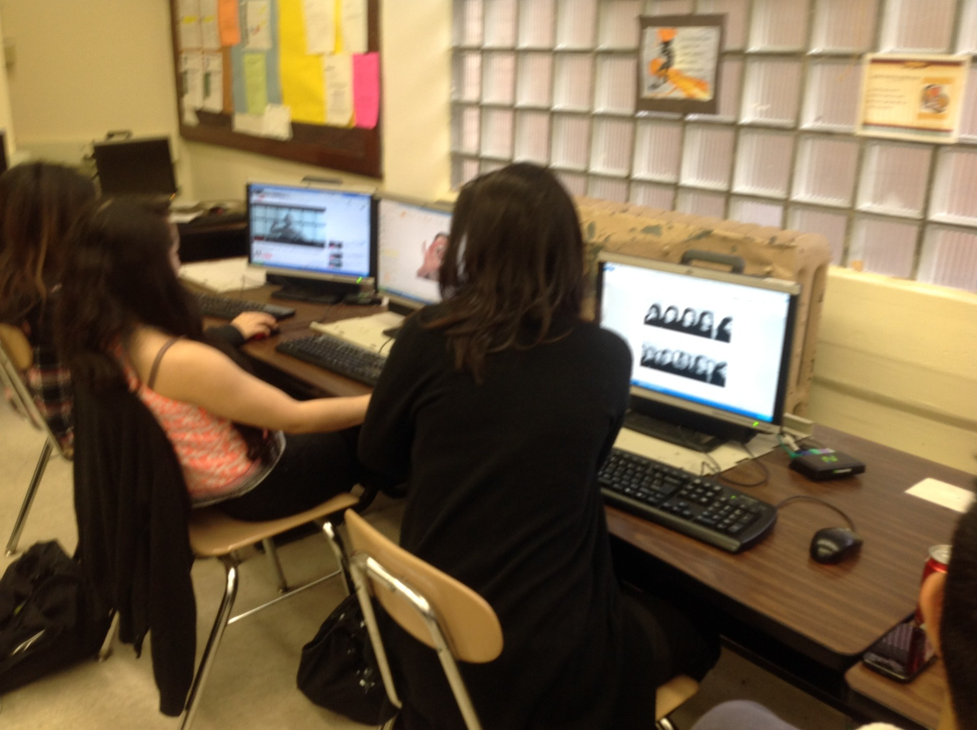 Students working in computer class.