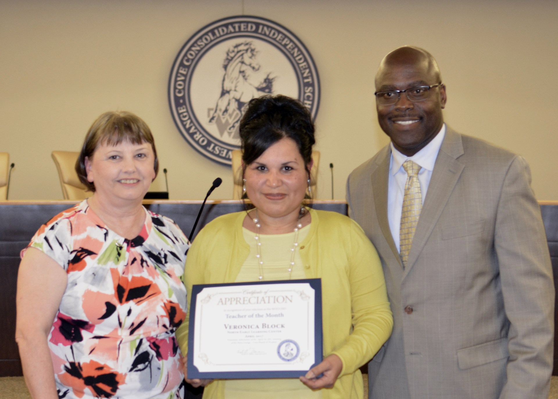 Veronica Block is recognized as Teacher of the Month