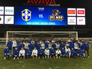Del Mar High & Oak Grove High varsity boys' soccer teams play at Avaya Stadium