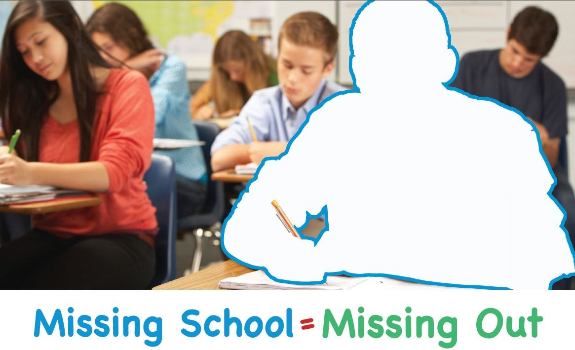 Picture of classroom with student missing at desk