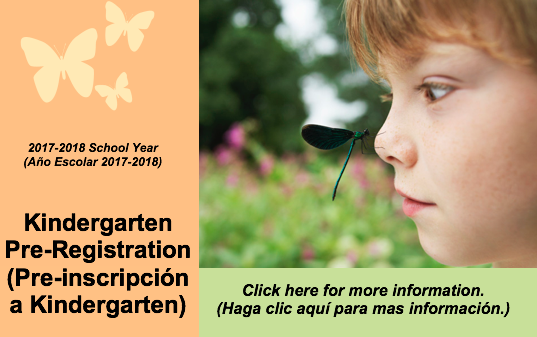 Kindergarten  Pre-Registration (Pre-inscripción a Kindergarten) Thumbnail Image