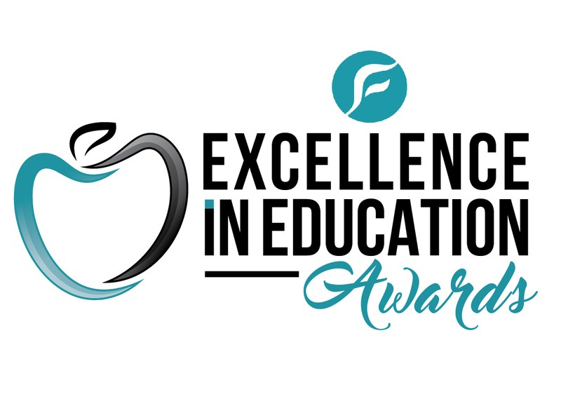 EXCELLENCE IN EDUCATION AWARDS TEAL APPLE LOGO
