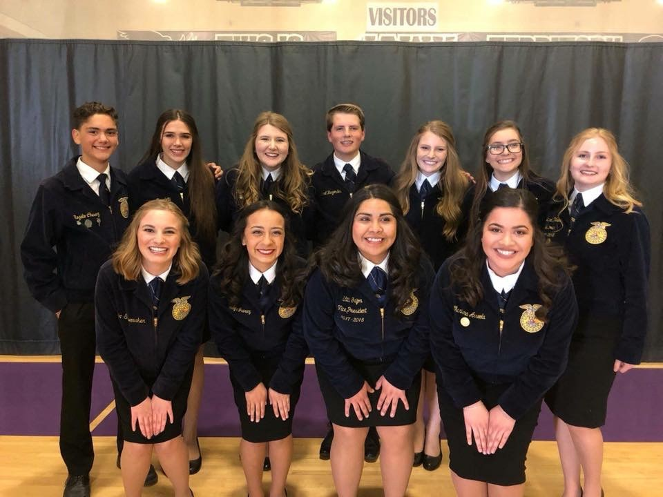 FFA San Joaquin Regional Officer Team