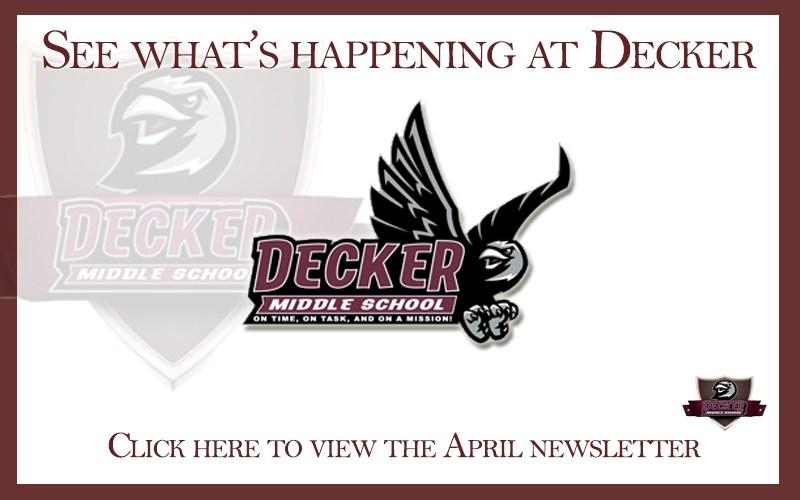 Decker Middle School April Newsletter Thumbnail Image