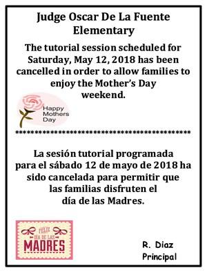 Saturday Tutorial Cancellation