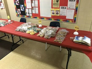 Picture of bake sale table