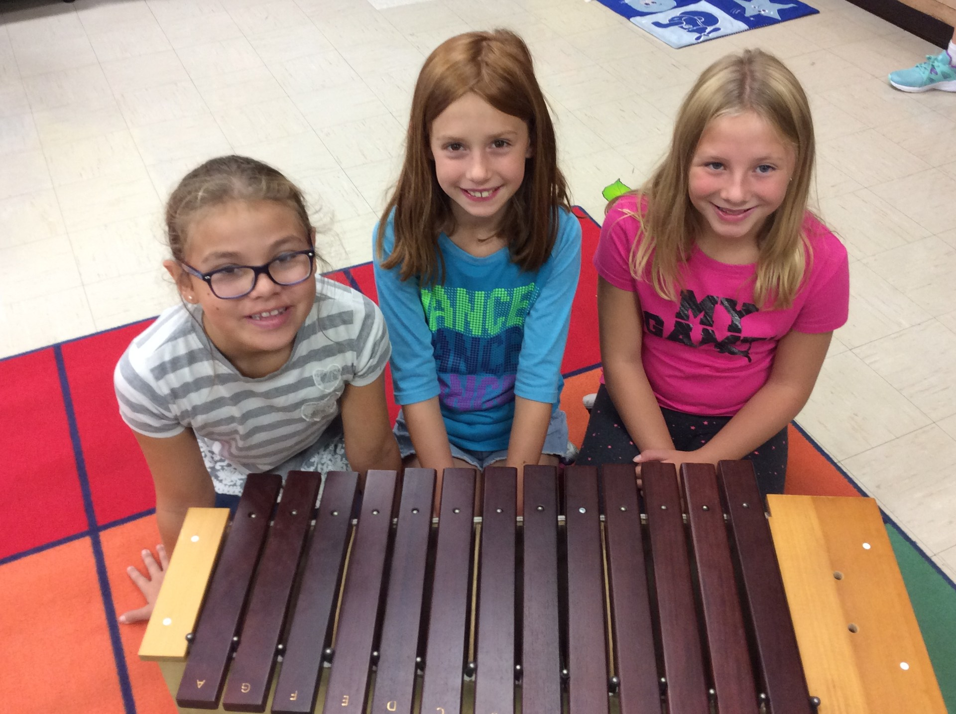 Playing the xylophone