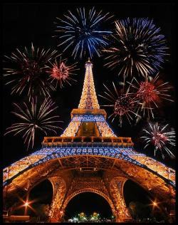 Eiffle Tour with fireworks