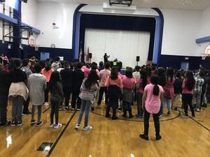 students dancing with Hip Hop Reggie