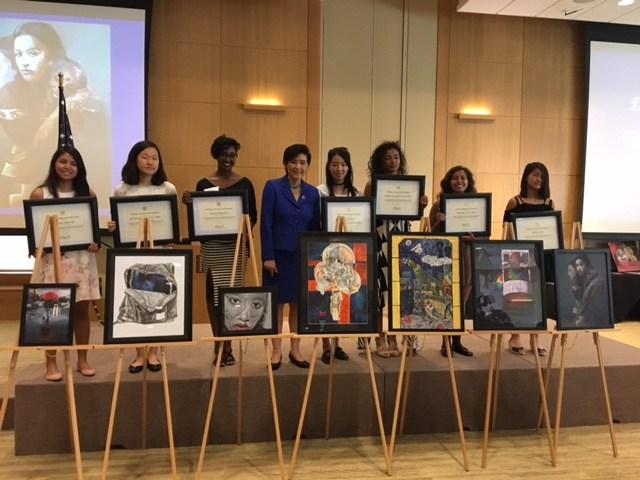 Awards Winners with Judy Chu