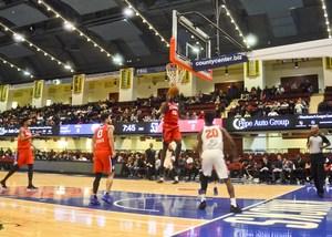 Knicks shooting a free throw