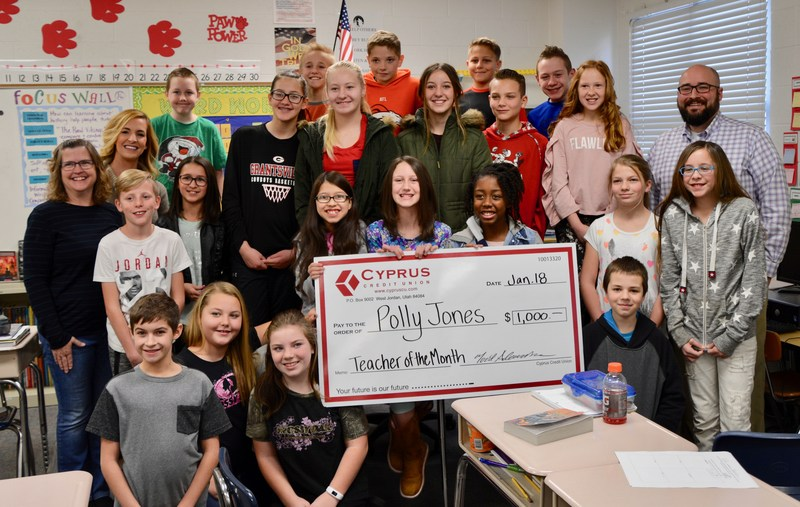 Cyprus Credit Union Teacher of the Month: Mrs. Jones at Willow Elementary Thumbnail Image