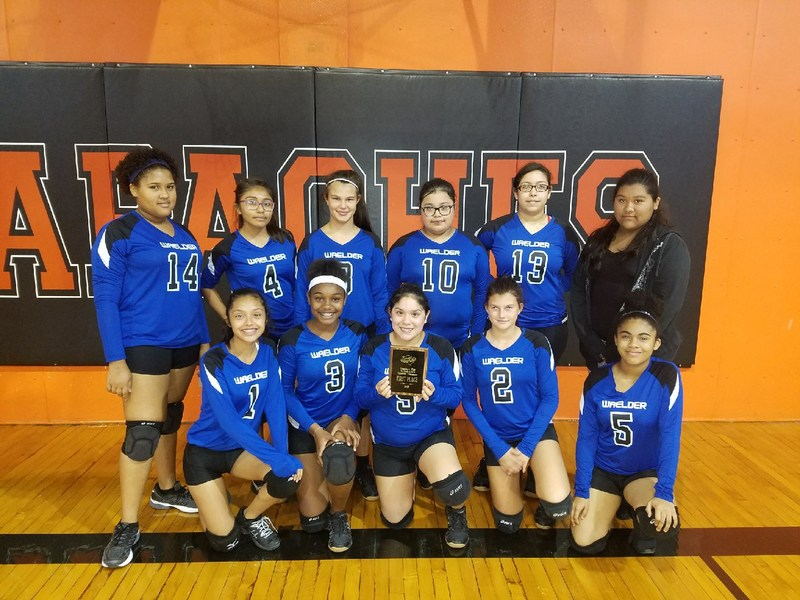 Middle School girls' volleyball team