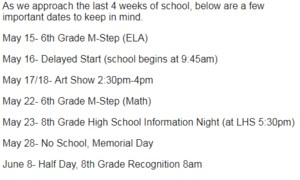 Save the dates LMS