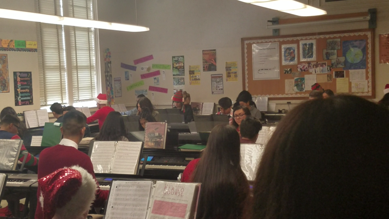 Piano classes at East Bakersfield High School.
