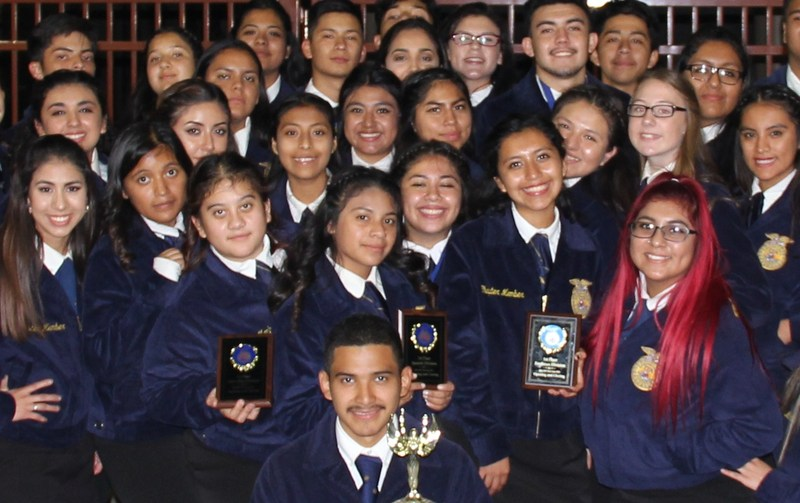 Arvin High School Future Farmers of America students.