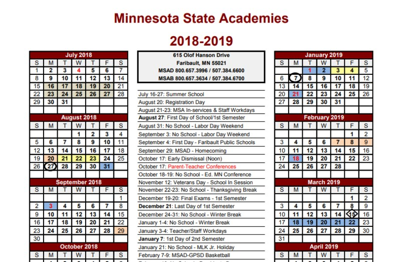2018-2019 School Calendar Available! Thumbnail Image