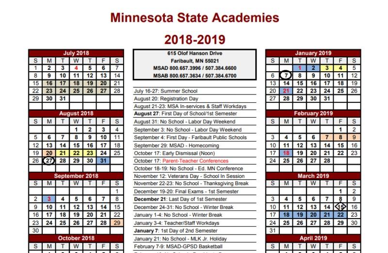 2018-2019 School Calendar Available! Thumbnail Image