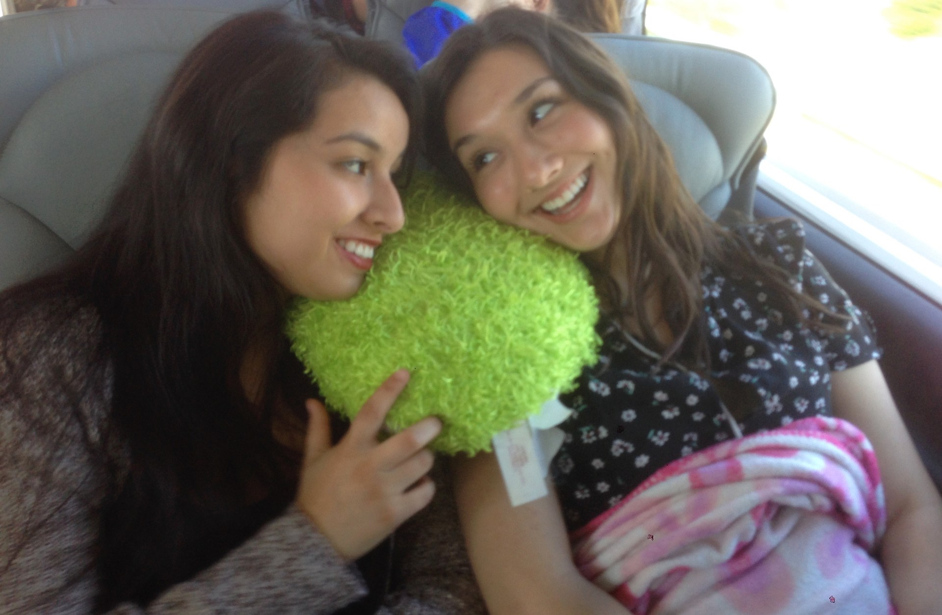 Two Great Books students on the bullet train from London to Paris