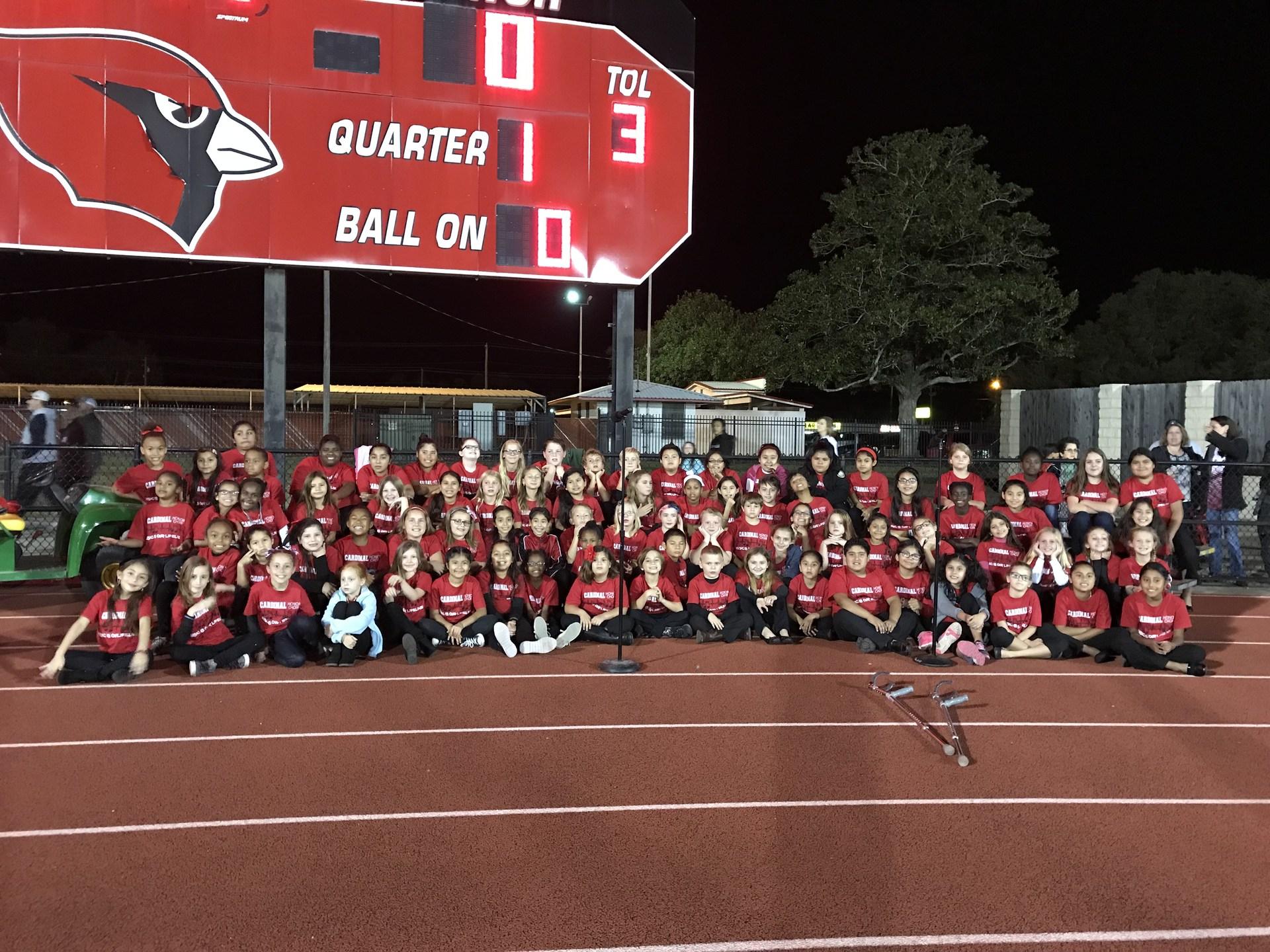 Honor Choir at Football Game 2017-2018