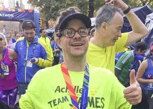 James McEnroe at end of the NYC Marathon