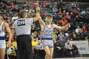 PJ wrestling Eddie Ventresca states third place