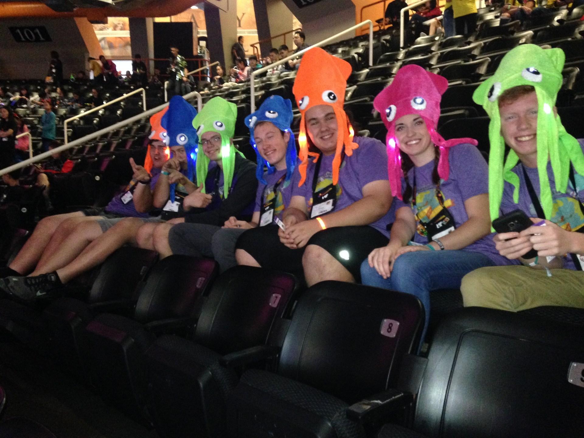 DI team in squid hats