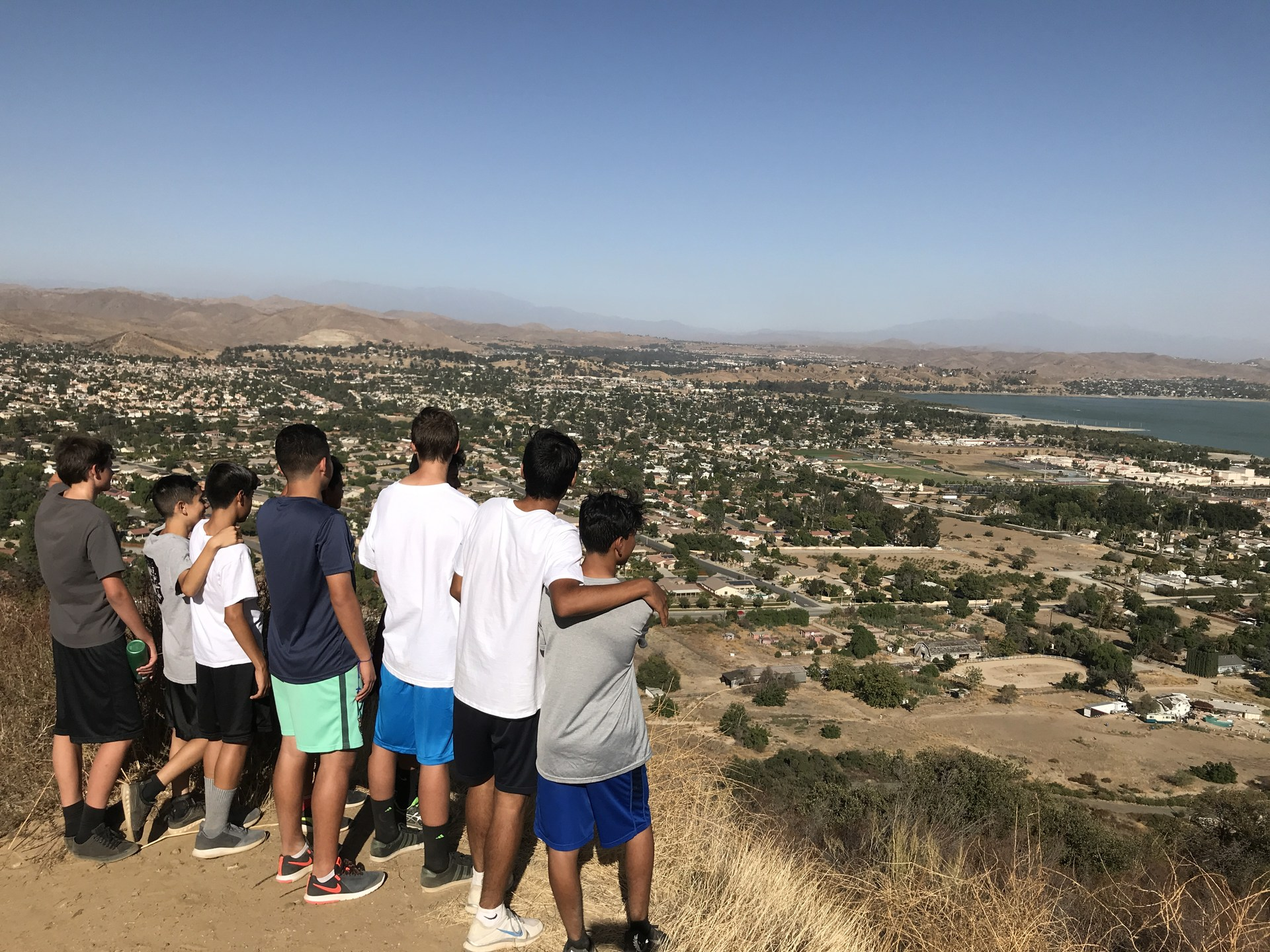 XC team looking at this great view